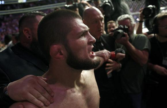 Массовая драка в зале после победы Нурмагомедова над Макгрегором. Смотреть видео