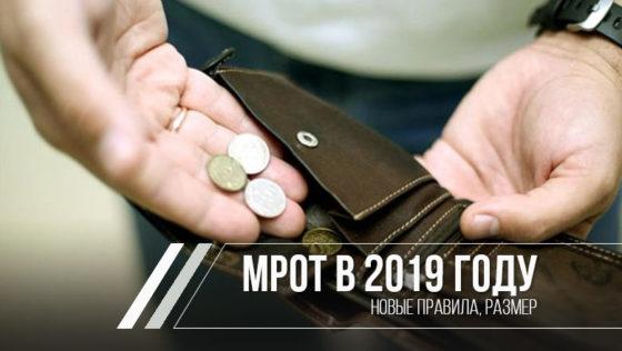 МРОТ с 1 января 2019 года по всем регионам и областям