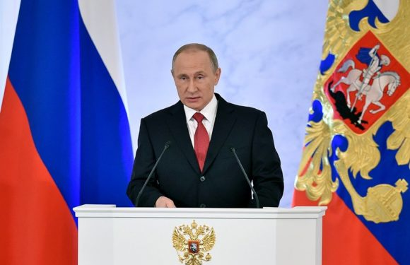 Прямой эфир послания президента Путина Федеральному собранию